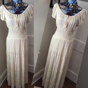 Boston Proper Gauze Maxi Dress EUC